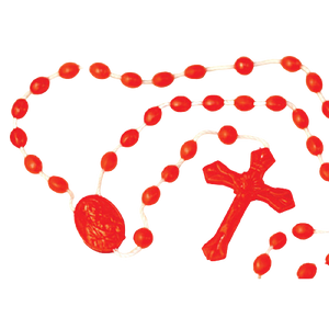 PLASTIC CORD ROSARY-MULTIPLE COLORS