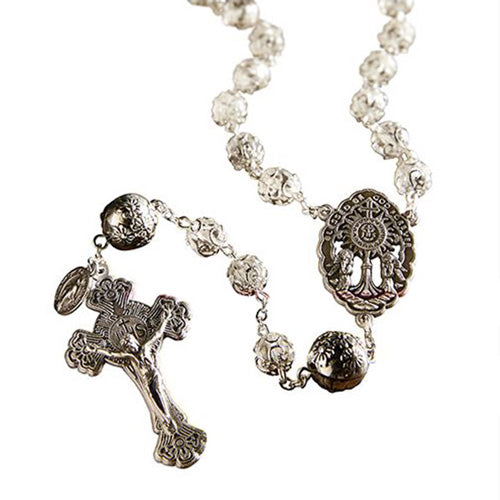 ADORATION ROSARY WITH AUTRIAN CRYSTAL AND SILVER BEADS