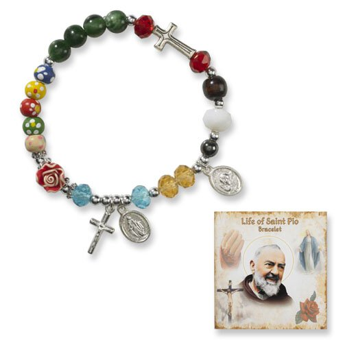 Rosary Bracelet - Padre Pio - 8 Page Story Card