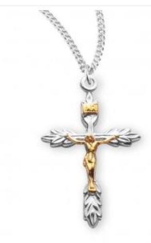 Crucifix - Sterling Silver - Wheat End