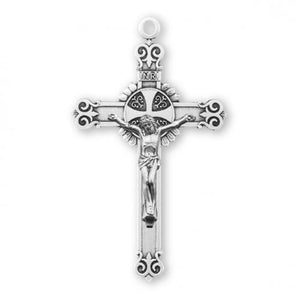 Swirl Tipped Crucifix Necklace