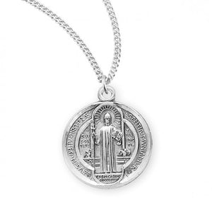 "St. Benedict medal, 18"" chain"
