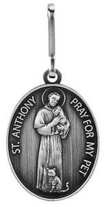 PET MEDAL - STS FRANCIS & ANTHONY - 1.25""