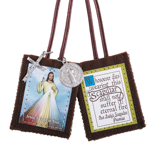 SCAPULAR - DIVINE MERCY WITH MEDALS - CLOTH
