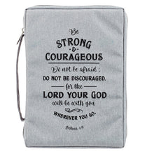 Load image into Gallery viewer, Strong And Courageous Canvas Bible Cover