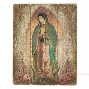 Our Lady of Guadalupe Wood Plaque