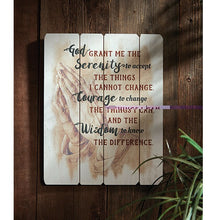 Load image into Gallery viewer, Serenity Prayer Wood Plaque