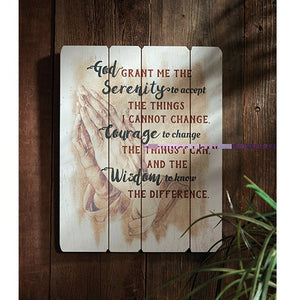 Serenity Prayer Wood Plaque