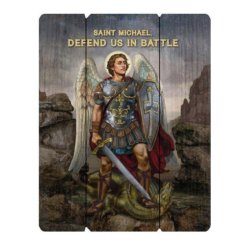 PLAQUE - ST MICHAEL DEFEND US - 12
