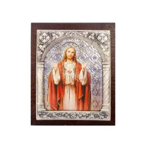 "Sacred Heart Icon - 2"" X 2.5"""