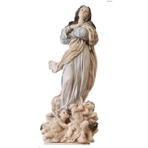 "Assumption Sculpture by Santini   - 16"" H"