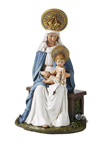 Seated Madonna & Child Statue - 6.5