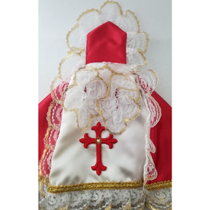 Satin Vestments with Embroidered Cross, 12""