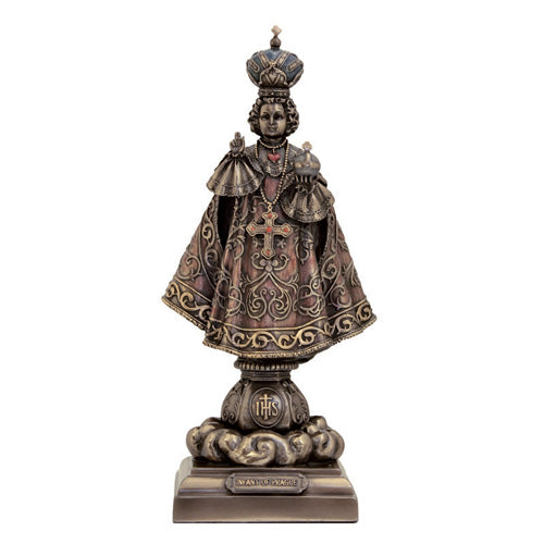 Infant of Prague Statue, Bronze, 8