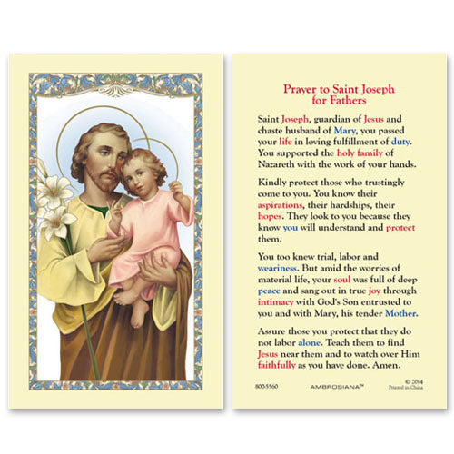 St Joseph - Prayer for Fathers