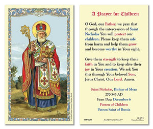 ST NICHOLAS - PRAYER FOR CHILDREN