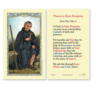 St. Peregrine Holy Card