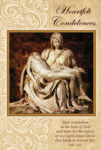 Greeting Card - Sympathy - Pieta