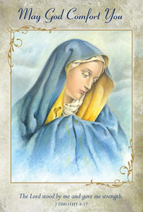 Greeting Card - Sympathy - May God Comfort You - Our Lady of Sorrows