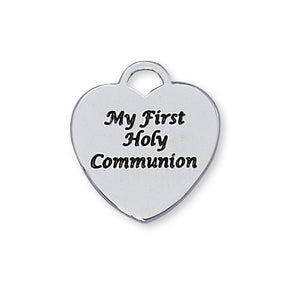 "First Communion Heart Necklace with 16"" Chain"