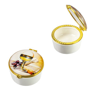 First Communion Porcelain Rosary Box