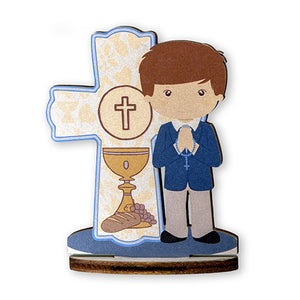 First Communion Wood Statuette, 3.5""