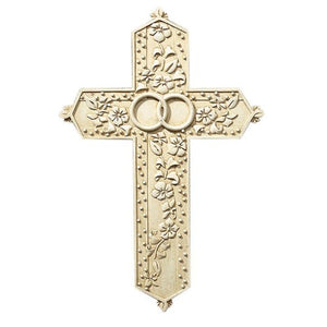 "WALL CROSS - TOMASO - INTERTWINED RINGS - 7.5"" RESIN"