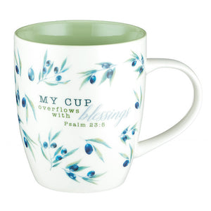 Mug - 'My Cup Overflows' (Psalm 23:5)