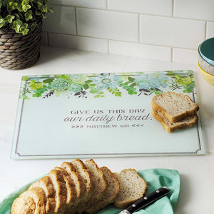 Our Daily Bread Glass Cutting Board