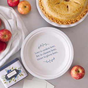 Love, Joy And Grace Pie Plate
