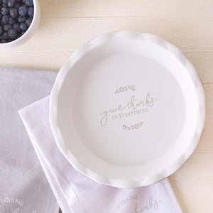 Give Thanks Pie Plate