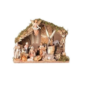"Fontanini Nativity Set - 5"" Scale -11 pieces - Italian Stable"