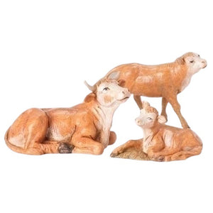 "STANDING OX FAMILY - 5""- 3 PC - FONTANINI"