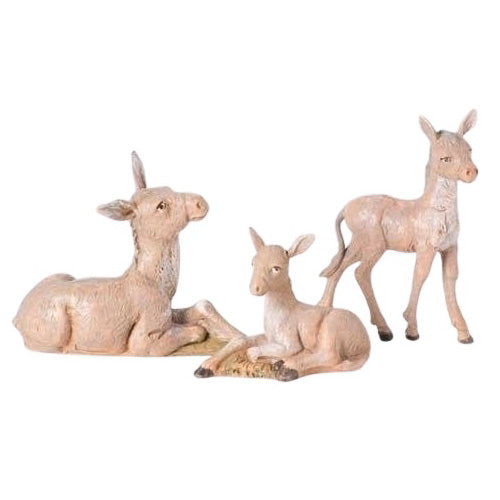 DONKEY FAMILY - 3 PCS - 5