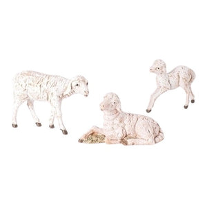 "SHEEP FAMILY - WHITE 3 PCS - 5"" FONTANINI"