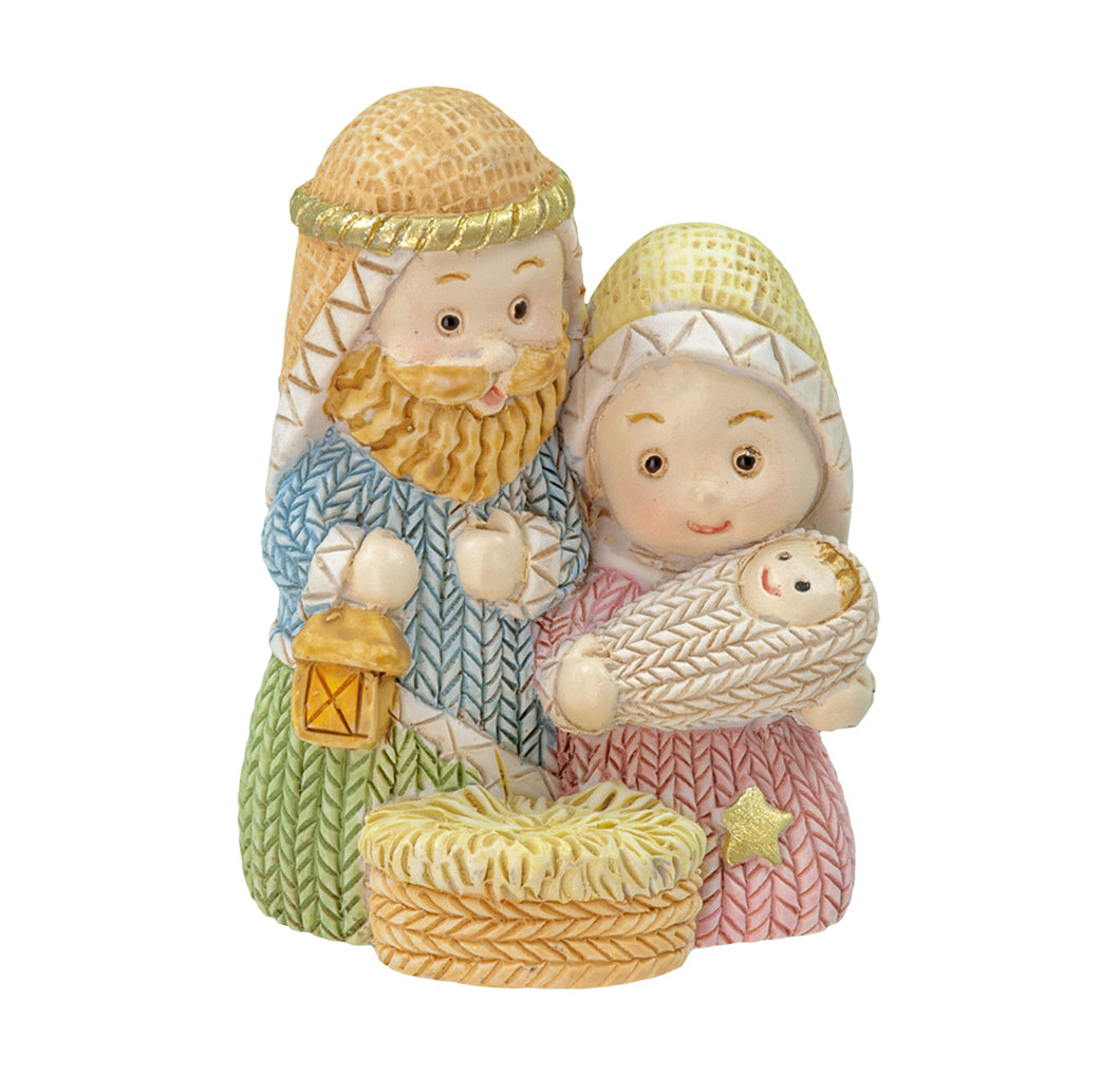 CHILD HOLY FAMILY - YARN STYLE ROBES - RESIN