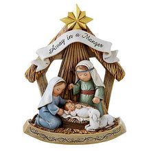"Load image into Gallery viewer, CHILD'S NATIVITY - COLOR - ONE PIECE  - 3"" X 5"" RESIN"