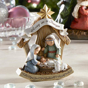 "CHILD'S NATIVITY - COLOR - ONE PIECE  - 3"" X 5"" RESIN"