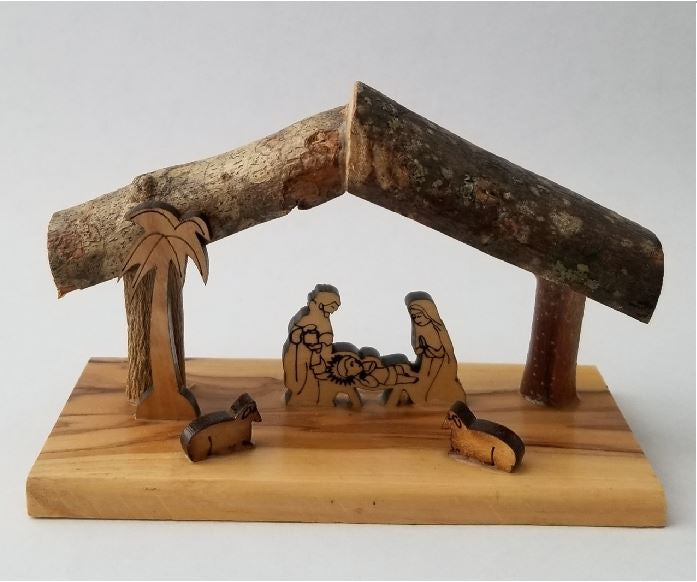 NATIVITY - OLIVE WOOD - 4.5