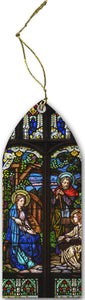 Holy Family Stained Glass Ornament