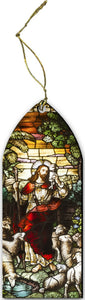 ORNAMENT: GOOD SHEPHERD - STAINED GLASS MOTIF