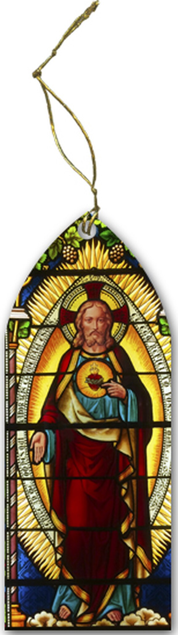 SACRED HEART STAINED GLASS ORNAMENT