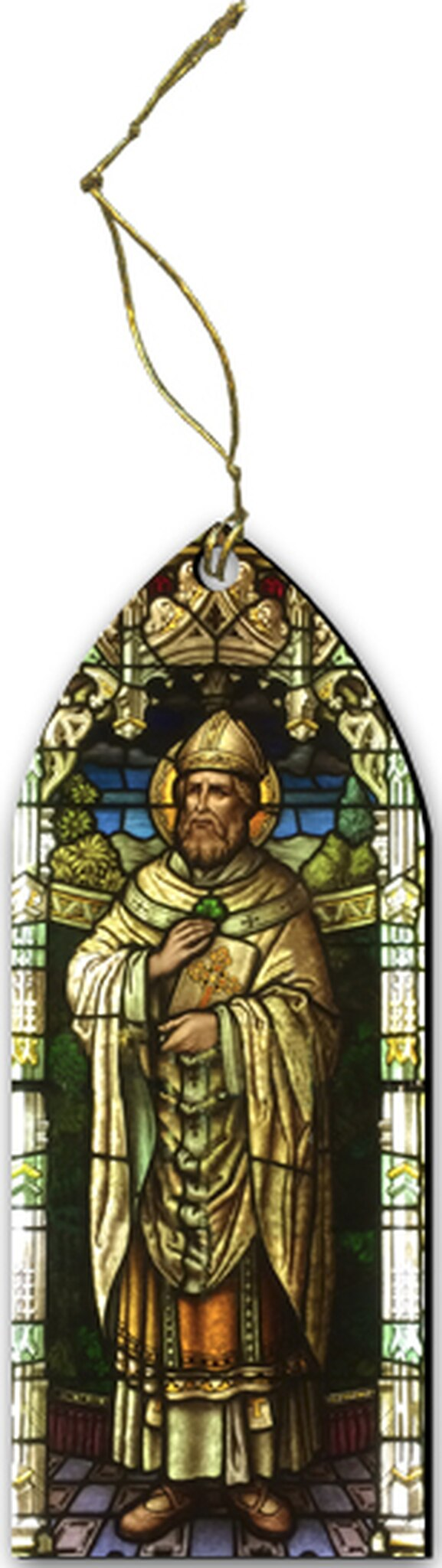 ST. PATRICK STAINED GLASS ORNAMENT