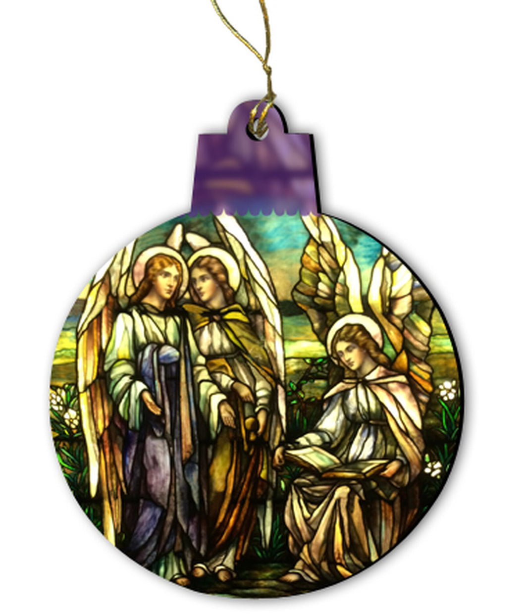 Tiffany Angels Stained Glass Ornament
