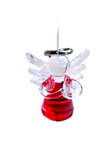 GLASS ANGEL ORNAMENT-VARIOUS COLORS