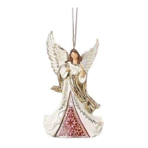 ORNAMENT-ANGEL-WHITE, RED AND GOLD
