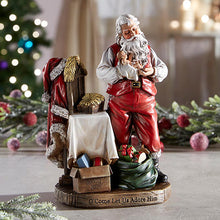"Load image into Gallery viewer, ADORING SANTA - 8"" STONE/RESIN"