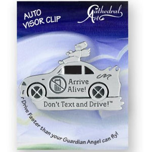VISOR CLIP - DON'T TEXT AND DRIVE