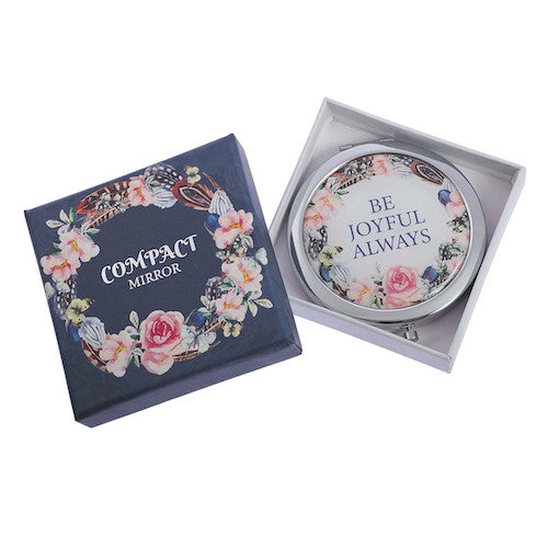 'Be Joyful' Compact Mirror
