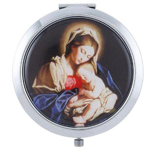 COMPACT MIRROR - BLESSED MOTHER - ROUND